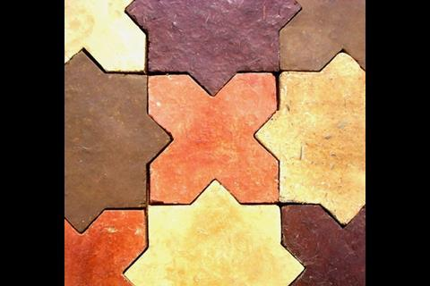 Cob House - Islamic floor tiles